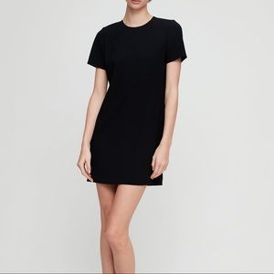 Aritzia black short sleeve dress